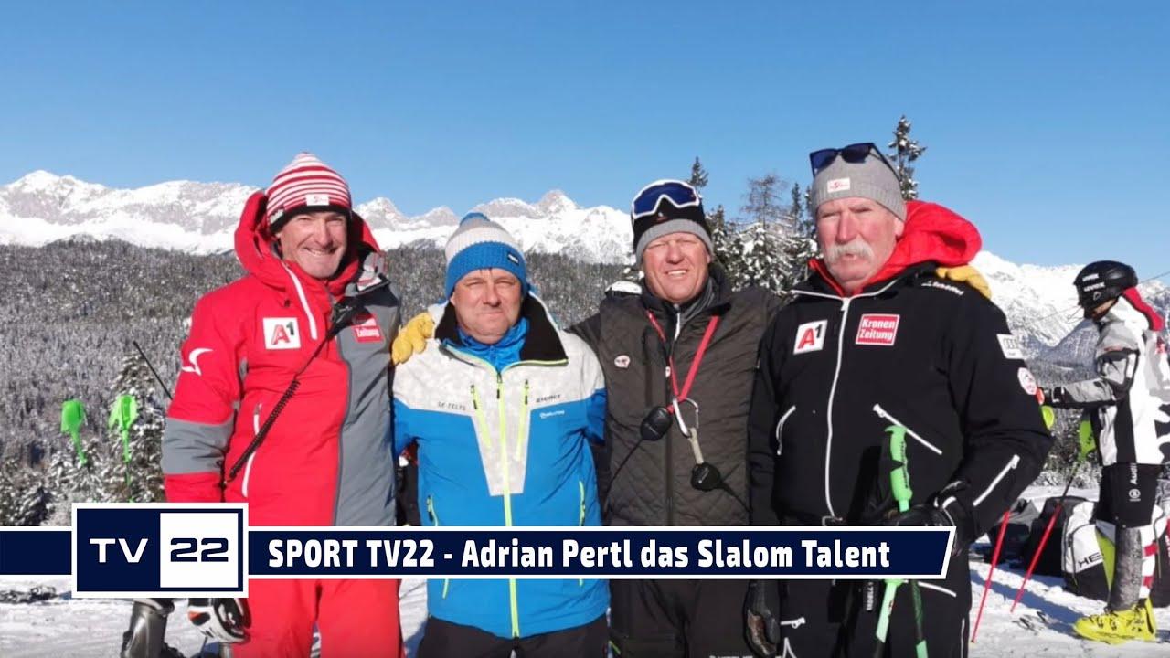 SPORT TV22: Adrian Pertl, ein neues Slalom-Talent - von der Seewaldalm nach Kitzbühel