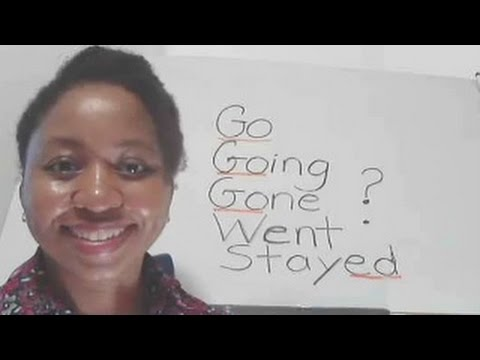 """Write Words """"Go, Going, Gone, Went, Stay, and Stayed"""" in a Sentence, Video #30"""