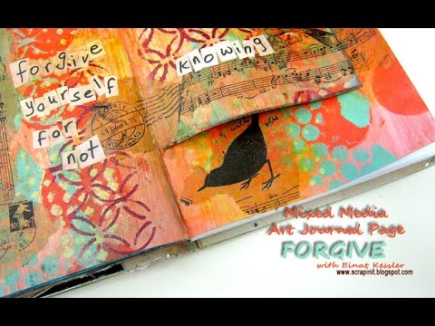 Mixed Media Art Journal Page: Forgive