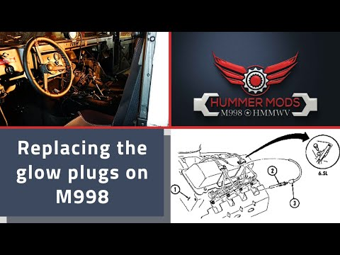 Replacing the Glow Plugs on my 6.5L M998 Hummer Humvee HMMWV – Torque specs and Repair Manual