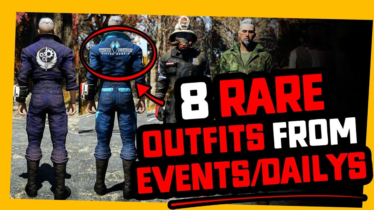 Fallout 6  6 RARE OUTFITS you may want TO GRIND FOR!