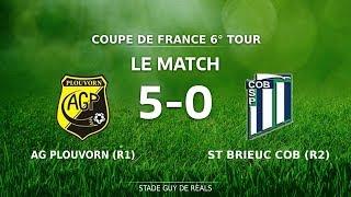Coupe de France 6è Tour : AG Plouvorn - St Brieuc COB (5-0), le match