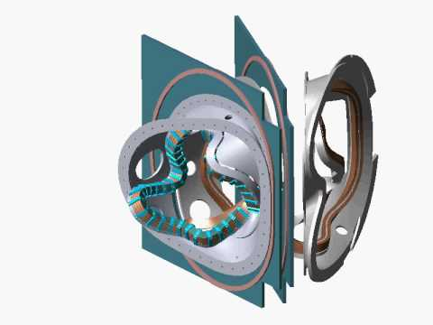 NCSX stellarator core assembly sequence