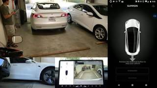 Tesla Model 3 Summon Demo