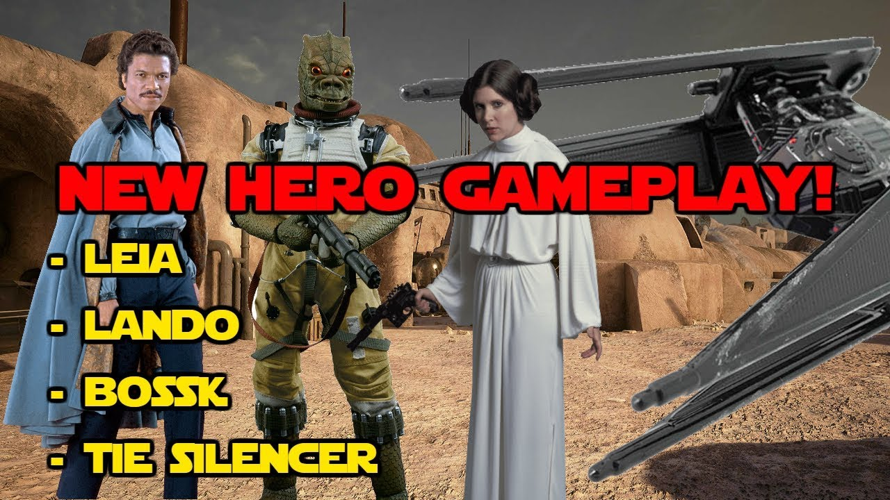 New Star Wars Battlefront 2 Leia Lando Bossk Hero Gameplay Abilities Thoughts Campaign Info