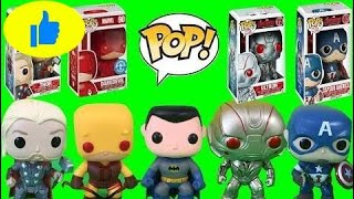 Surprises Marvel FUNKO POP Avengers Age of Ultron,Batman, Daredevil,Thor & Captain America   Ep 123