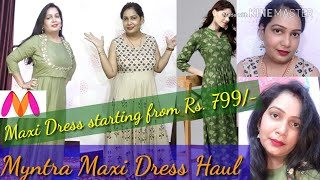 Myntra Maxi Dress haul | Gerua ,Aks, Athena Maxi Dress Haul for Festival & Wedding | Best Maxi Dress