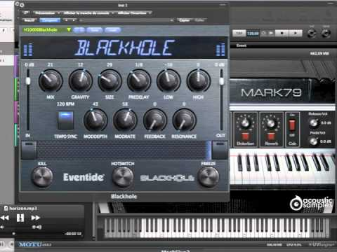 Eventide Blackhole Plugin feat. Motu Machfive 3 Mark 79 Acousticsamples