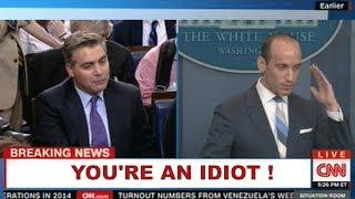 "CNN:  MILLER TO ACOSTA:  ""YOU'RE AN IDIOT! ""  A Total Smackdown!"