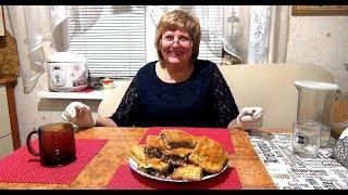 """Вкуснейшый пирог с курицей и грибами из слоеного теста.""""Гости на пороге"""" Безумно вкусный и нежный."""