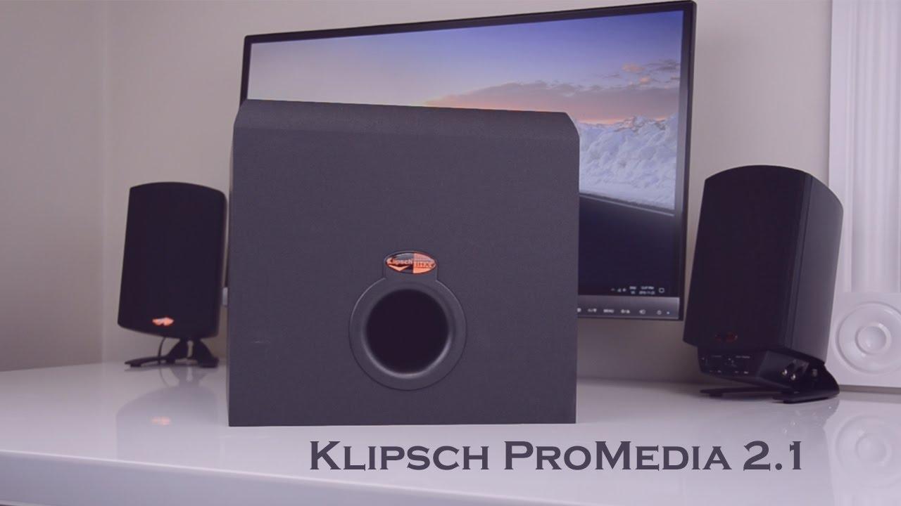 klipsch promedia 2 1 desktop speakers review youtube rh youtube com Klipsch 2.1 Sound Bar Klipsch 2.1 Sound Bar