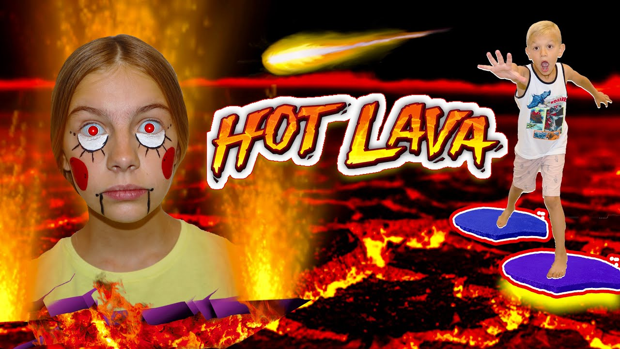 My SiSter Is A LaVa RoBot! EscApe The Floor Is Lava With Gold Lamp!