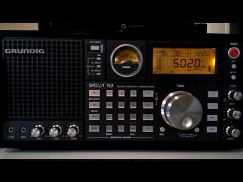 Shortwave broadcast of Radio Rebelde from Quivican, Cuba @ 5020 kHz