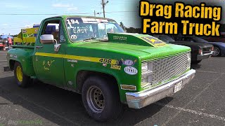 Real Life Drag Racing FarmTruck Steals the Show - Must See Story