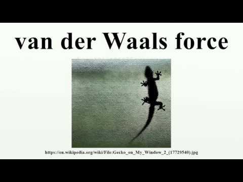 van der Waals force