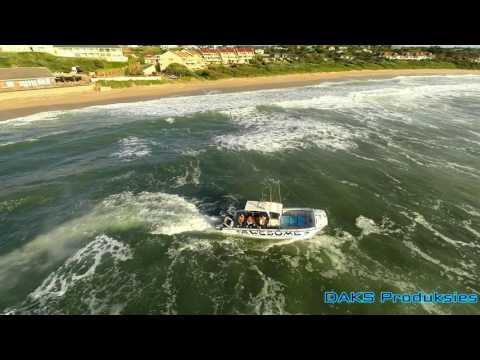 Shelly beach small craft harbor, awesome boat launch, drone video