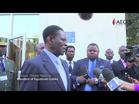 visit of the president of Equatorial Guinea Teodoro Obiang Nguema at Kigali Genocide memorial