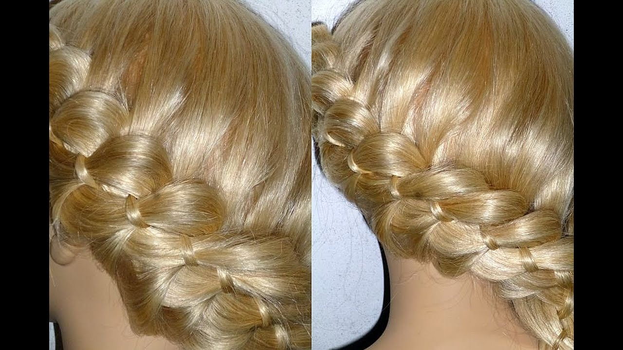 flechtfrisuren zopffrisuren 4 str hnen zopf flechten 4 strand braid trenzas peinados youtube. Black Bedroom Furniture Sets. Home Design Ideas