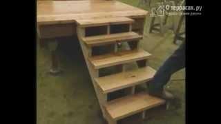 Лестница на террасу [Часть 11](В этом видео вы узнаете как сделать лестницу своими руками для террасы в целом, а в частности: - как определи..., 2015-02-13T19:40:48.000Z)