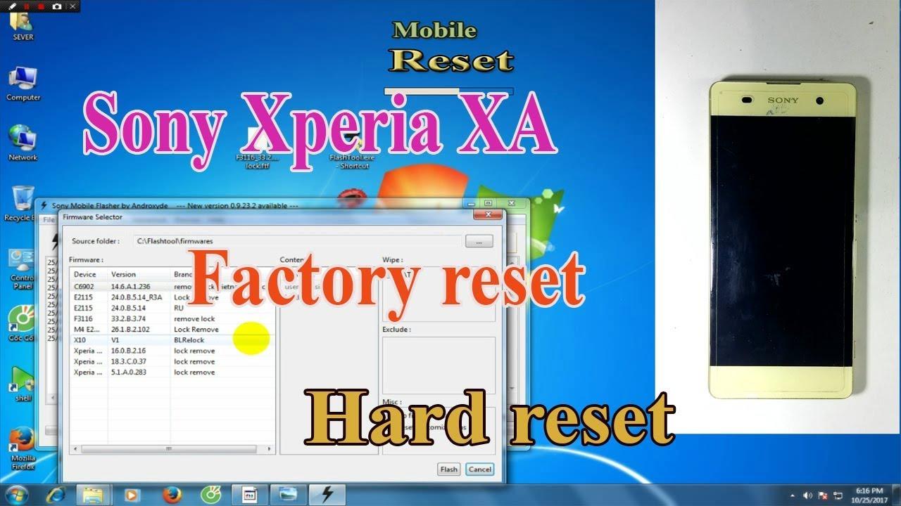 forgot password sony xperia xa1