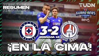 Resumen y goles   Cruz Azul 3-2 San Luis   Torneo Guard1anes 2021 BBVA MX - J16   TUDN