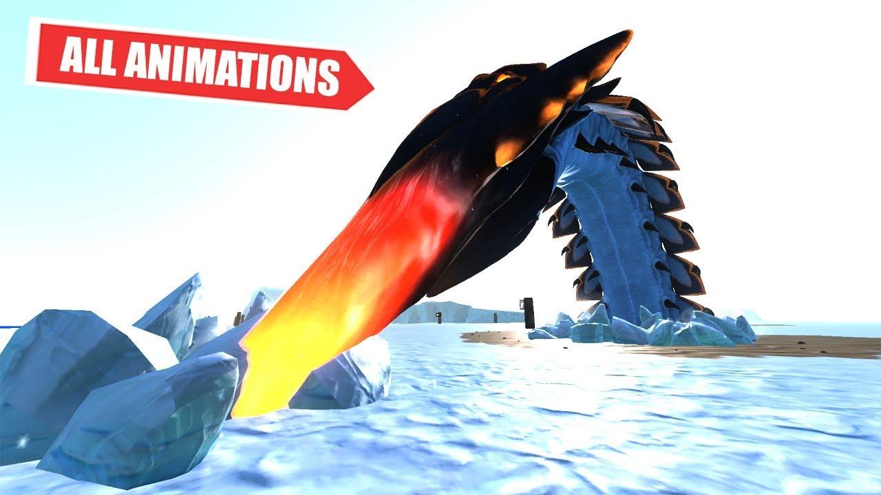 All Ice Worm Leviathan Kill Animations   Subnautica Below Zero