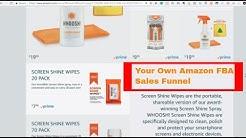 Amazon FBA Private Label Sales Funnel Example