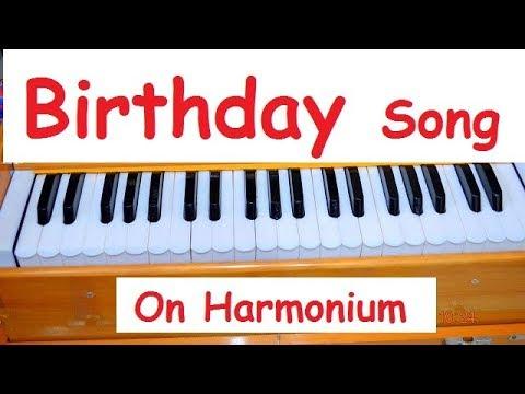 Birthday Song Turotial On Harmonium With Notations