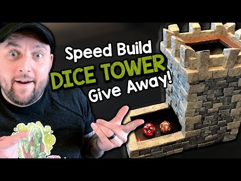 How to Build a Dice Tower - Giveaway & FREE Template!