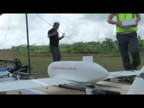 Drone delivers vaccines to residents of remote island