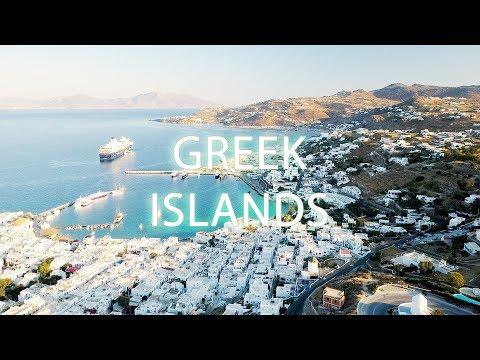 DJI Mavic Traveling in the Greek Islands - Mykonos and Santorini in 4K