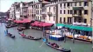 10 Spaziergang vom Markusplatz zur Rialtobrücke am Kanale Grande in Venedig Venezia 2013