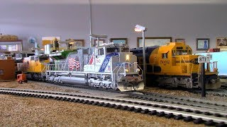 """HO Scale: Union Pacific #1943 """"Spirit of the Union Pacific"""" Run/Ops."""
