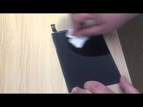 How to clean an iPad LCD