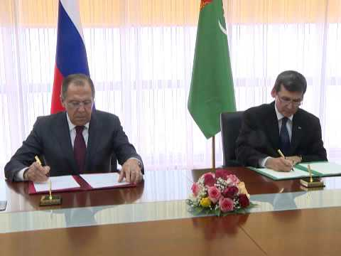 Подписание программы сотрудничества между МИД России и Туркменистана на 2016 год