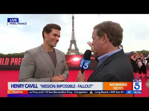 Henry Cavill Salutes the Women of KTLA in Stunning Live Interview