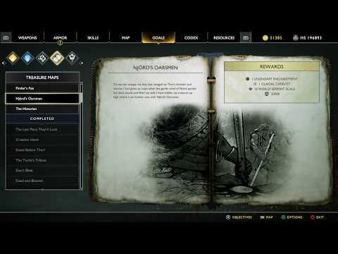 God Of War Treasure Map Guide