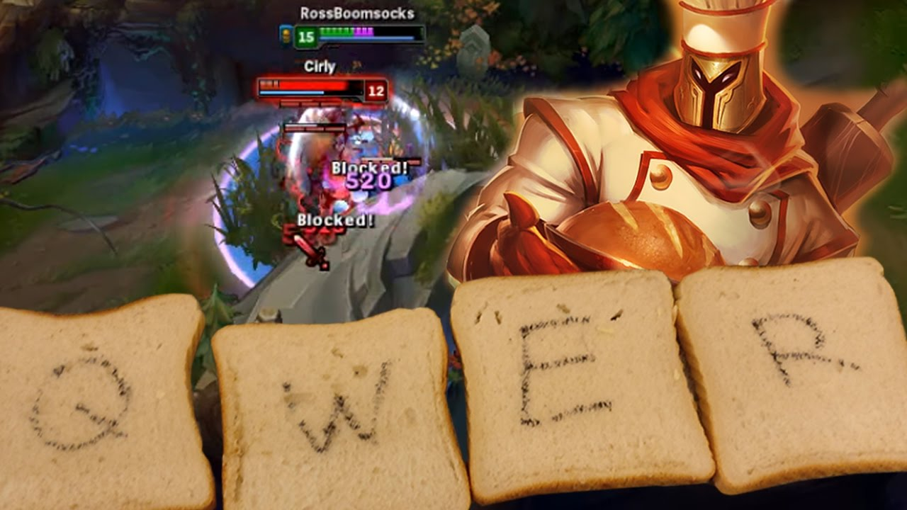 Playing Baker Pantheon With Actual Pieces Of Bread Weird League Of Legends Youtube