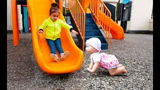 🌸Playing With Baby doll at the Playground