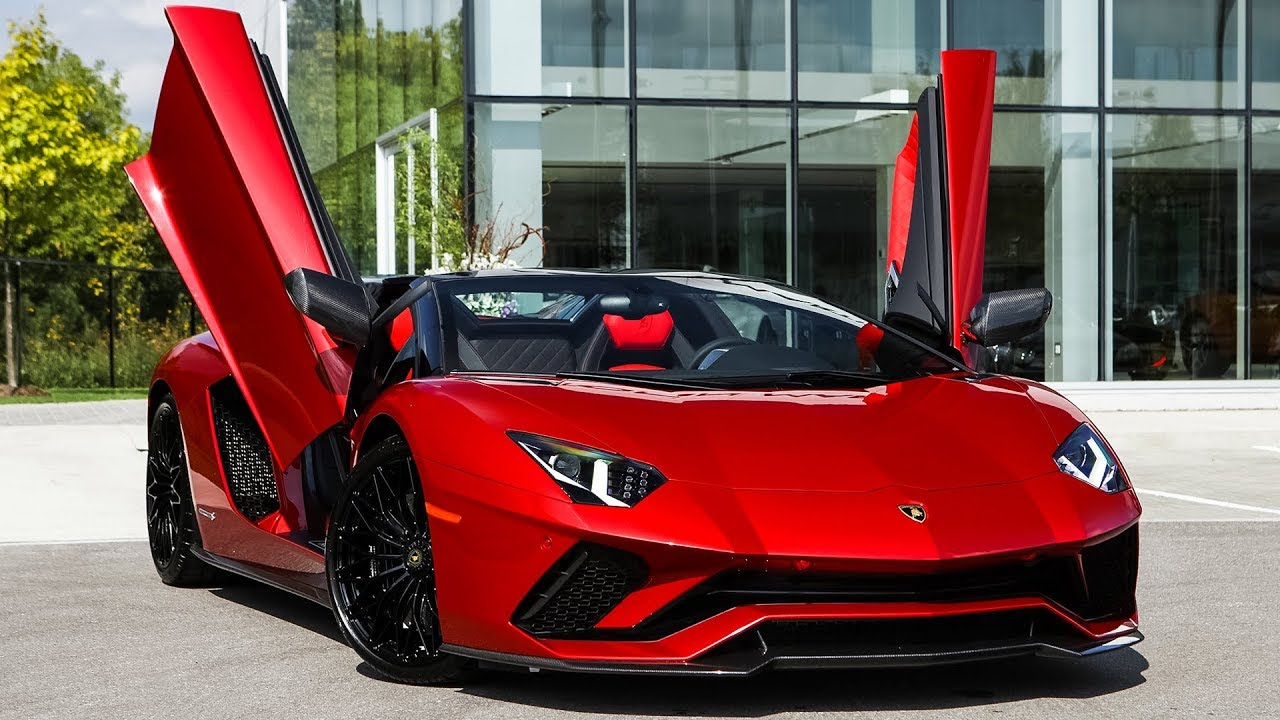 Overview of a BRAND NEW 2019 Lamborghini Aventador S Roadster in Rosso  Leto!!! - YouTube