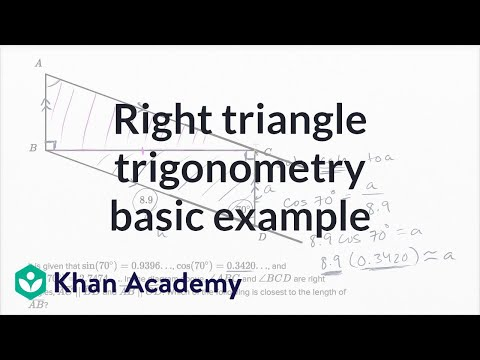 Right Triangle Geometry — Basic Example | Math | New SAT | Khan Academy
