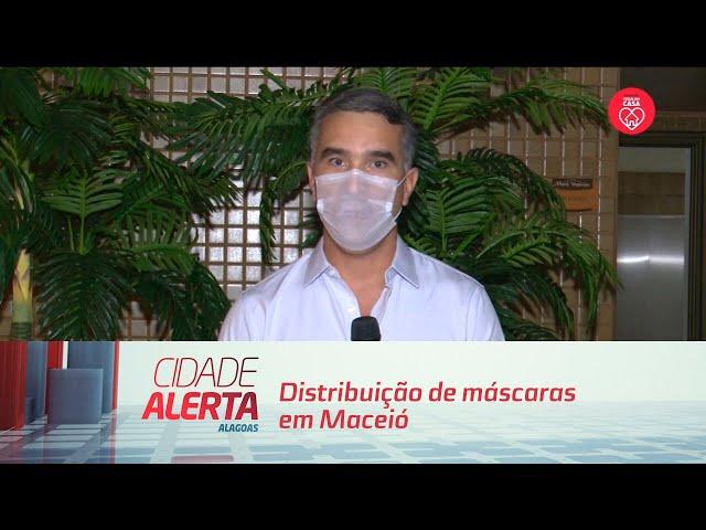 Distribuição de máscaras em Maceió começa pelo bairro do Jacintinho