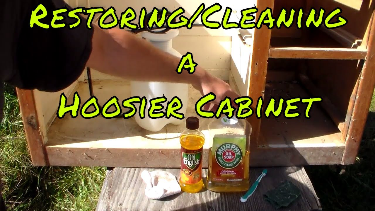 Restoring Cleaning A Hoosier Cabinet