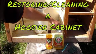 Restoring/Cleaning A Hoosier Cabinet
