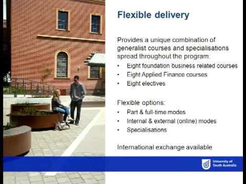 Applied Finance - Open Day 2012 - University of South Australia