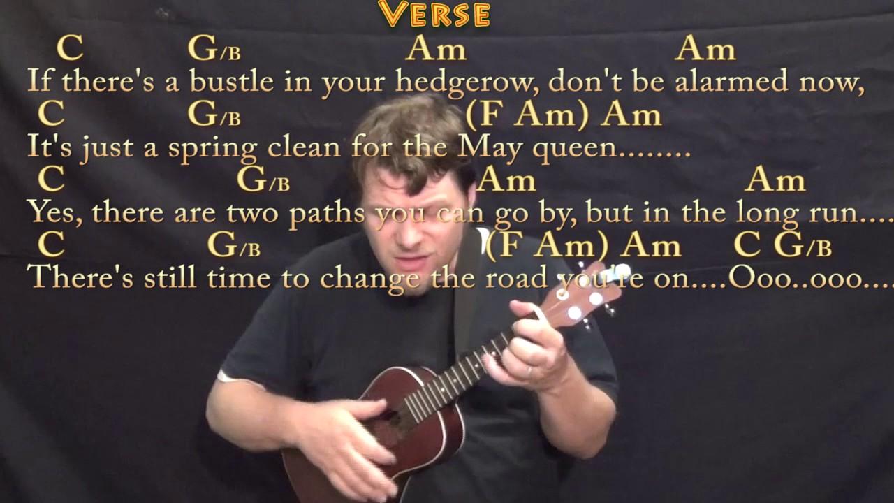 Stairway To Heaven Ukulele Cover Lesson With Chordslyrics Youtube
