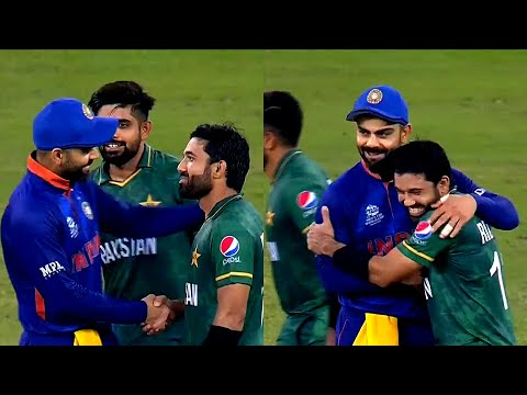 India vs Pakistan: Virat Kohli hugs Mohammad Rizwan after 10 ...