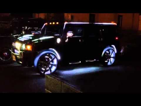Led Light Show Of Hummer H2 Youtube