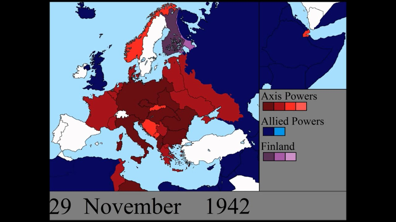 World War II In Europe Every Day YouTube - Germany map world war 2