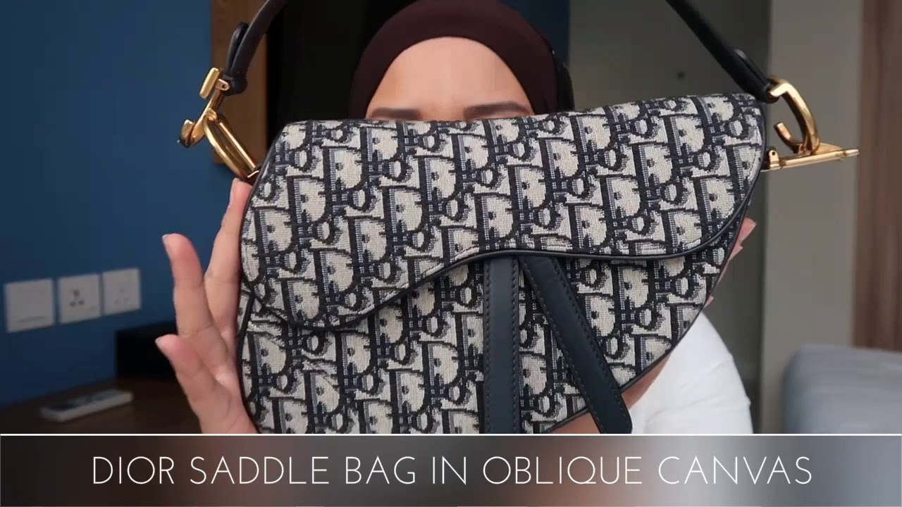 2a15a44d1136 Dior Saddle Bag in Oblique Canvas - YouTube